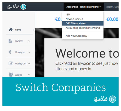 How To Switch Companies In Bullet Free Online Accounting Software