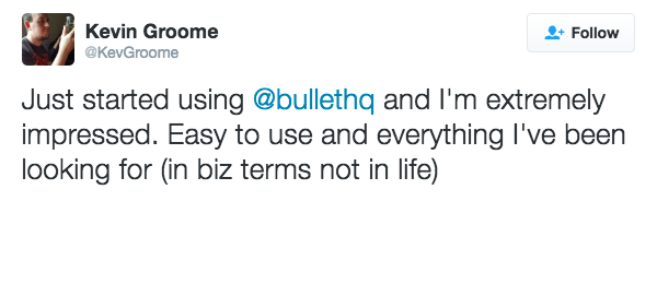 customer review bullet kevin groome