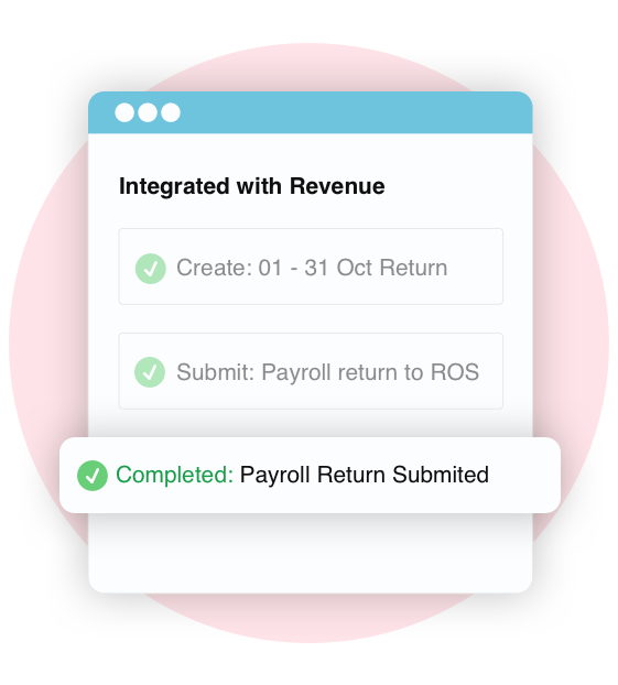 Screen grab of Bullet online payrolls integration to ROS online