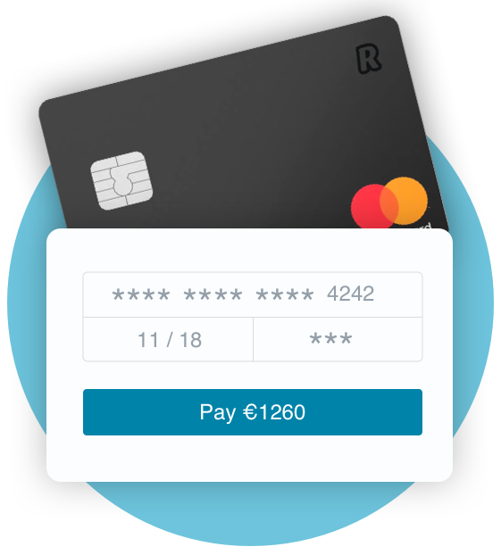 Image displays message that Bullets invoicing payments accept Paypal, Stripe and over 100 credit and debit cards.